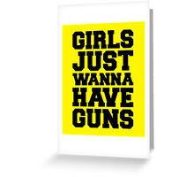 Girls Have Guns Gym Quote Greeting Card