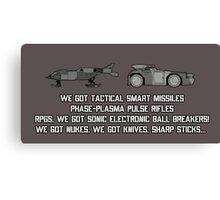 "Colonial Marines Tech - ""We Got"" [Aliens] Canvas Print"