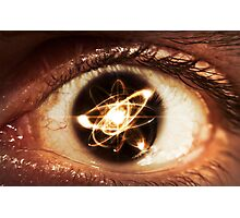 Atom Particle Eyes Photographic Print
