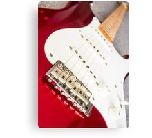Candy Red Fender Strat Canvas Print
