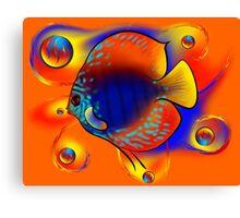 Discuremia V1 - abstract digital artwork, printable digital painting Canvas Print