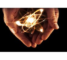 Atom Particle Hands Photographic Print