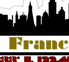 San Francisco Coordinates Sticker