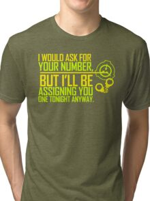 What's Your (Item) Number 2 Tri-blend T-Shirt