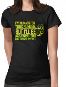What's Your (Item) Number 2 Womens Fitted T-Shirt