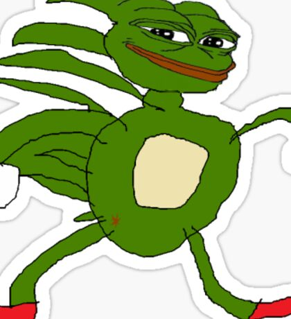Pepe - Gotta go Fast Sonic  Sticker