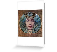 Graceful Vintage French Art Nouveau woman Greeting Card