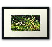 The Verdant Pokémon Framed Print