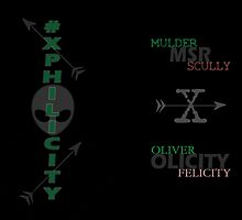 Xphilicity (Mulder & Scully from The X-Files and Oliver & Felicity from Arrow) by xphilicity