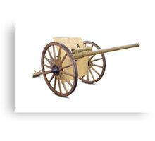 Antique Canon on White Canvas Print