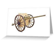 Antique Canon on White Greeting Card