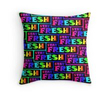 Stay Fresh Rainbow Stylish Nerd Funny Geek Hipster Throw Pillow