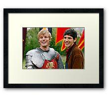 Merlin and Arthur being dorks - Merthur -  Framed Print