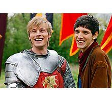 Merlin and Arthur being dorks - Merthur -  Photographic Print