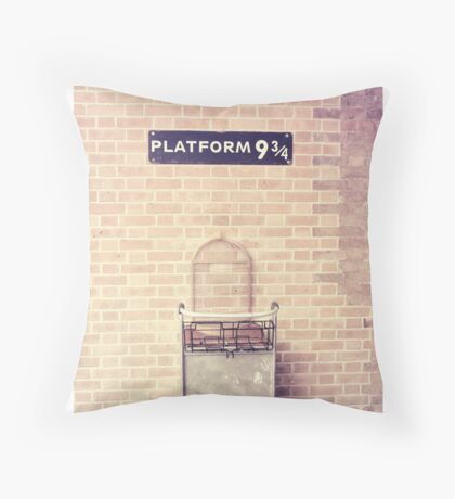 Platform 9 3/4 Throw Pillow