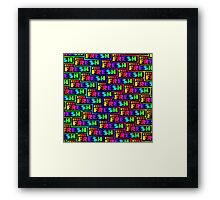 Stay Fresh Rainbow Stylish Nerd Funny Geek Hipster version 2 Framed Print