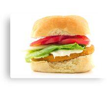 Chicken Patty Sandwich Canvas Print