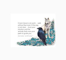 Crow's lesson Soul Wolf Journey Unisex T-Shirt