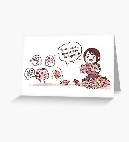 Brain Puzzle Ideas Greeting Card