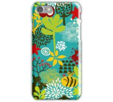 Bee and apple iPhone Case/Skin