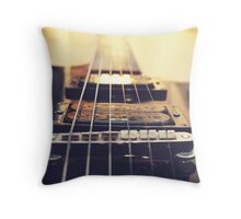 Recording Studio Furniture Wall Art & Gear | Music Studio Decor Design | Electric Guitar Instrument Throw Pillow