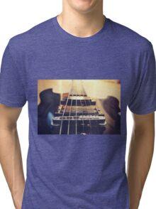 Recording Studio Furniture Wall Art & Gear | Music Studio Decor Design | Electric Guitar Instrument Tri-blend T-Shirt