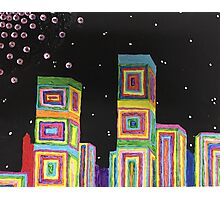 Rainbow Abstract City Photographic Print