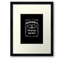 Heisenberg's Blue Meth Framed Print
