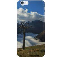 Alps Ski-lift Mountain View iPhone Case/Skin