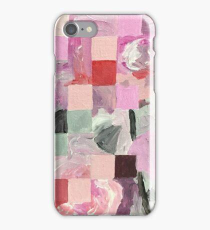 Love (Pink Squares) iPhone Case/Skin