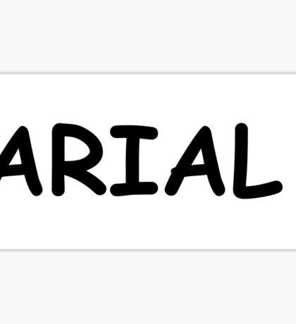 ARIAL COMIC IRONY Sticker