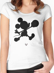 Bucket Club Mickey Jumpman 2  Women's Fitted Scoop T-Shirt