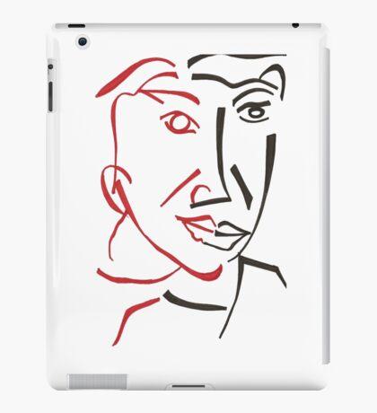 Cubist man face drawing iPad Case/Skin