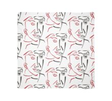 Cubist man face drawing Scarf