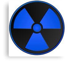 Blue Radioactive Fallout Symbol - Geek Epic Gamer Nerd Boy Canvas Print