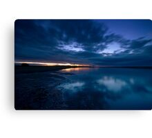 Holy Island Causeway - Sunset Canvas Print