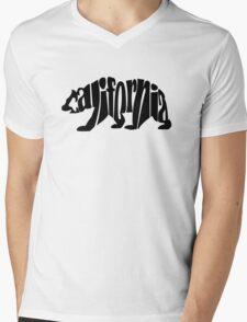 black california bear Mens V-Neck T-Shirt