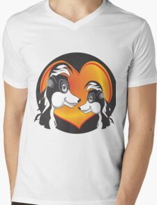 SKUNK LOVE Mens V-Neck T-Shirt