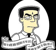Frank 'Grimey' Grimes Alternative The Simpsons Goth Punk Pop Art by zombieCraig