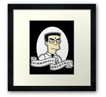Frank 'Grimey' Grimes Alternative The Simpsons Goth Punk Pop Art Framed Print