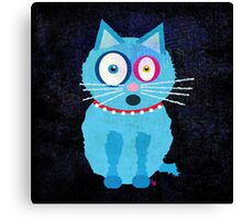 Funny Blue Cat Named Scruffy Canvas Print
