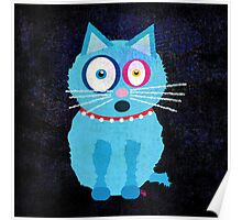 Funny Blue Cat Named Scruffy Poster