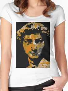 Michelangelo's David (Large) Women's Fitted Scoop T-Shirt