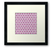 Pretty Pink Scales Framed Print