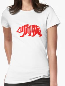 red california bear Womens Fitted T-Shirt
