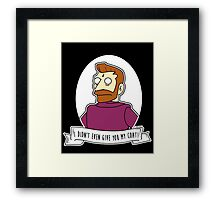 Hank Scorpio Alternative The Simpsons Goth Punk Pop Art Framed Print