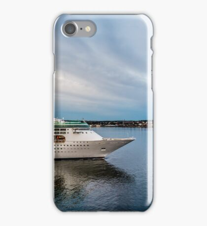 Cruise Ship Sailing at Dusk iPhone Case/Skin