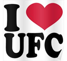I Love UFC Red Heart Poster