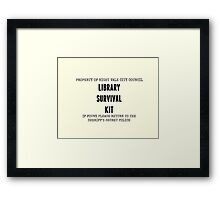 """Library Survival Kit"" Welcome to Night Vale Framed Print"