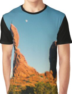 Balanced Rock Holga Style Photograph Graphic T-Shirt